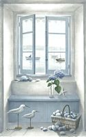 "Toile P "" l'ile d'Arz""-Oliva blue-decoration de charme"