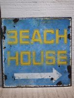 Plaque beach house-deco mer-sphere inter