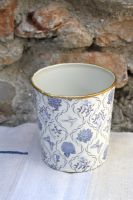 pot metal bleu-decoration de charme-chehoma