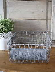 Panier en fil de fer storage gm-Deco scandinave-chic antique