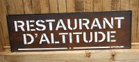 Plaque restaurant d'altitude-decoration campagne-sphere inter