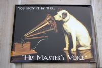 Plaque his master's voice -plaques deco-decoration d'atelier