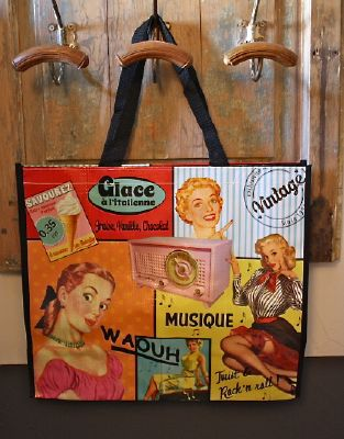 sac vintage theme musical-deco retro