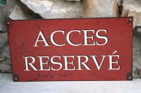 Plaque acces reserve -Decoration d'atelier-Sphere inter