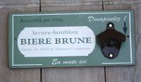 Decapsuleur mural biere brune-Deco cuisine-decoration campagne