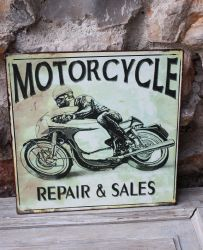 Plaque Motorcycle- decoration d'atelier