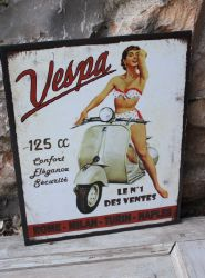 Plaque vespa- decoration d'atelier