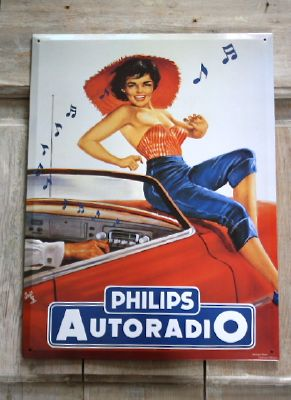 Plaque philips autoradio -plaques deco-decoration d'atelier