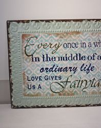 Plaque deco fairytale-deco vintage-chic antique