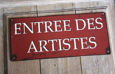 Plaque Entrée des artistes -Decoration d'atelier-Sphere inter