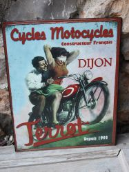 Plaque moto terrot- decoration d'atelier