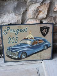Plaque peugeot 203- decoration d'atelier