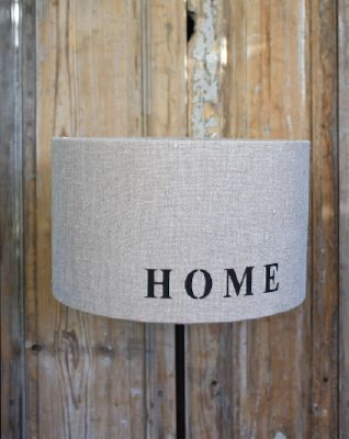 Abat-jour rond lin mot home-decoration de charme