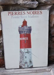 Plaque murale phare pierres noires -Deco mer-sphere inter