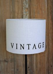 Abat-jour rond vintage pm-decoration vintage