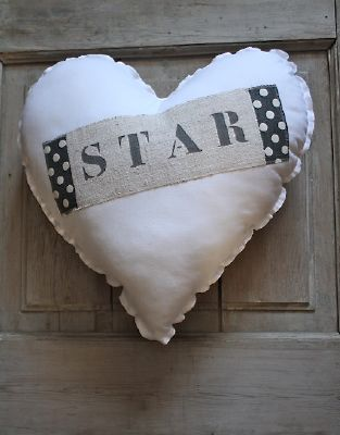 coussin coeur star