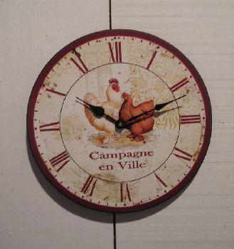 Good horloge deco campagne en ville esprit campagne with - Poule decorative pour cuisine ...